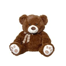 Valentines Teddy Bears - Rico Bear with Bow Tie Brown (39cmST)
