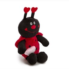 Valentines Teddy Bears - Nico Ladybug with Heart Red (27cmST)