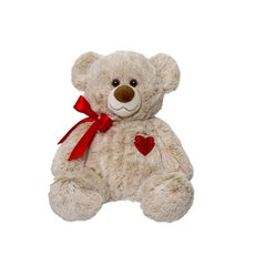 Valentines Teddy Bears - Naomi Bear with Red Heart Beige (24cmST)