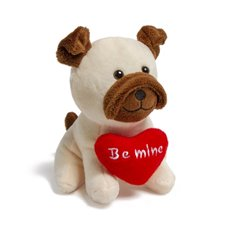 Valentines Teddy Bears - Nathan Dog with Heart Beige (14cmST)