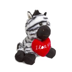 Valentines Teddy Bears - North Zebra with Heart (18cmST)