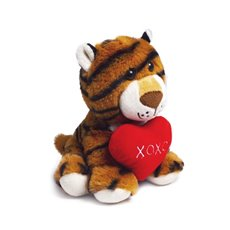 Valentines Teddy Bears - Norton Tiger with Heart (18cmST)