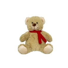 Valentines Teddy Bears - Carter Bear with Scarf Brown (15cmST)
