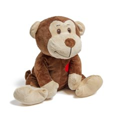 Valentines Teddy Bears - Owen Monkey with Heart Brown (25cmST)
