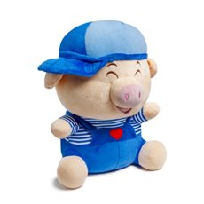 Valentines Teddy Bears - Ben Pig with Hat Navy Blue (38cmST)