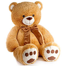 Giant Teddy Bears - Benjamin Bear Brown (100cmST)