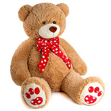 Valentines Teddy Bears - Elijah Bear Brown (100cmHT)