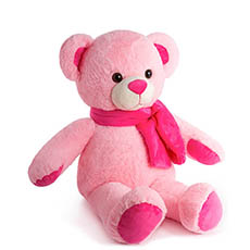 Giant Teddy Bears - Asher Bear with Scarf Baby Pink (60cmHT)