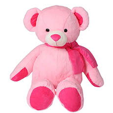 Giant Teddy Bears - Asher Bear with Scarf Baby Pink (90cmHT)