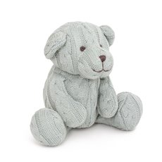 Baby Teddy Bears - Zac Cable Knit Teddy Bear Baby Blue (22cmST)