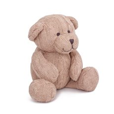 Baby Teddy Bears - Zoe Cable Knit Teddy Bear Baby Pink (22cmST)