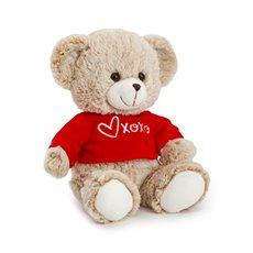 Valentines Teddy Bears - Honey bear with Tshirt beige   (23cmST)