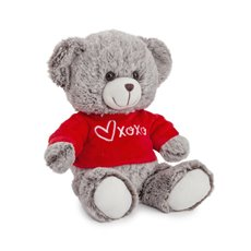 Valentines Teddy Bears - Honey bear with Tshirt grey   (23cmST)
