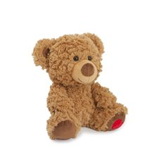 Valentines Teddy Bears - Cuddles Valentine bear with heart on feet brown  (23cmST)