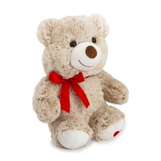 Valentines Teddy Bears - Judy Valentine bear with heart on feet cream  (28cmST)