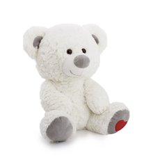 Valentines Teddy Bears - Loving heart bear white (32cmST)