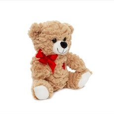 Valentines Teddy Bears - Emily Bear with Red Heart Brown (20cmST)