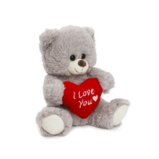 Valentines Teddy Bears - Luna Bear with I Love U Grey (20cmST)