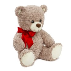 Valentines Teddy Bears - Jacob Bear with Red Ribbon Grey (40cmST)