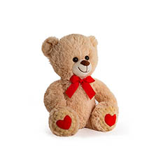 Valentines Teddy Bears - Wesley Bear Valentines Brown (25cmST)