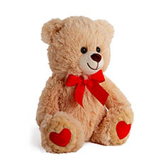 Valentines Teddy Bears - Wesley Bear Valentines Brown (30cmST)