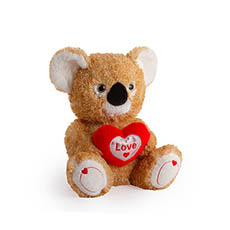 Valentines Teddy Bears - Koala With Heart Brown (25cmST)