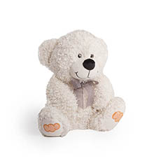 Teddytime Teddy Bears - Cooper Bear with Candy on the Feet White (26cmST)