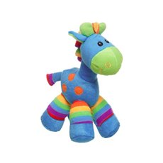 Baby Animal Soft Toys - Gerry Giraffe Bright Stripes Aqua Blue (20cmST)