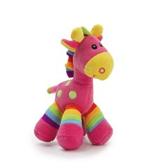 Baby Animal Soft Toys - Gerry Giraffe Bright Stripes Hot Pink (20cmST)