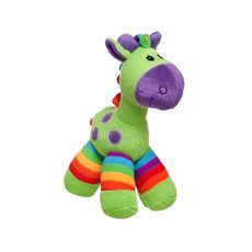 Baby Animal Soft Toys - Gerry Giraffe Bright Stripes Lime Green (20cmST)