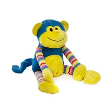 Baby Teddy Bears - Milo Monkey Bright Striped Blue (38cmHT)