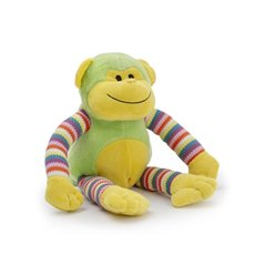 Baby Animal Soft Toys - Milo Monkey Bright Striped Lime (38cmHT)