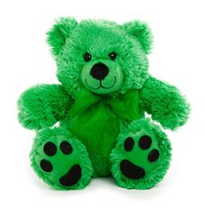 Roly Junior Brights Teddy Bear Green (18cmST)