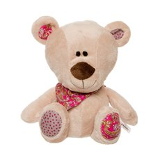Henry Teddy Bear with Hot Pink Scarf Beige (20cmST)