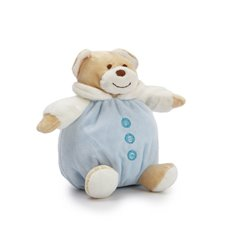 Snuggles Roly Poly Teddy Bear Blue (15cmST)