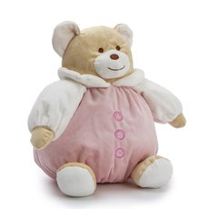 Baby Teddy Bears - Snuggle Roly Poly Teddy Bear Pink (25cmST)