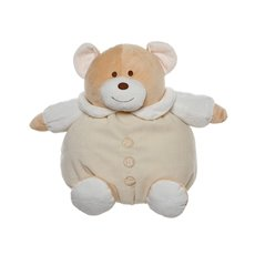 Snuggles Roly Poly Teddy Bear Cream (30cmST)