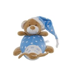 Starbright Teddy Bear Aeroplane Toy Blue (14x16cmH)