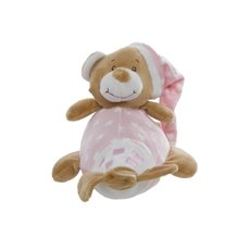 Starbright Teddy Bear Aeroplane Toy Pink (14x16cmH)