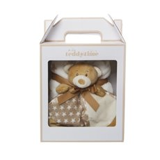 Starbright Gift Pack Teddy Security Toy and Blanket Brown