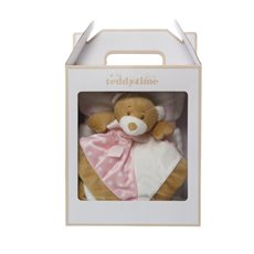 Starbright Gift Pack Teddy Security Toy and Blanket Pink