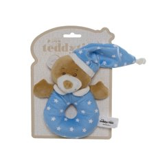 Starbright Teddy Bear Ring Rattle Blue (16cm)