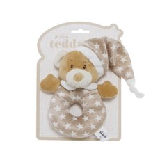 Baby Rattles - Starbright Teddy Bear Ring Rattle Brown (16cm)