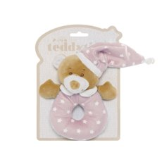 Baby Rattles - Starbright Teddy Bear Ring Rattle Pink (16cm)