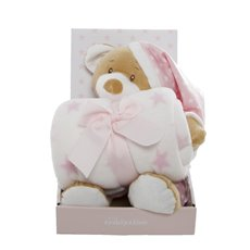 Baby Gift Sets - Starbright Teddy Bear Gift Pack Bear and Blanket Pink