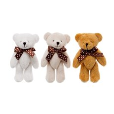Teddy Bear Mini Mixed 6 Pack Brown, Beige, White (10cmHT)