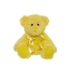 Jade Jointed Teddy Bear Yellow  (25cmHT)