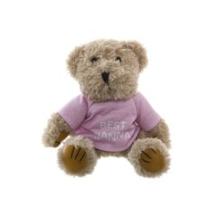 Teddy Bear Message Best Nanna Pink T.Shirt (20cmHT)