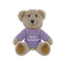 Teddy Bear Message Best Grandma Lavender T.Shirt (19-20cmH