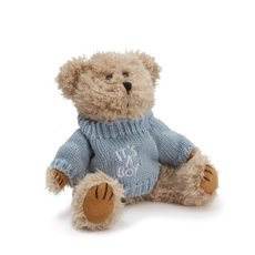 Teddy Bear Message Its a Boy Blue Jumper (20cmHT)